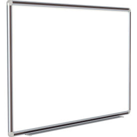 "DFMBK46 Ghent; DecoAurora Porcelain Magnetic Whiteboard Silver/Black Frame, 72""W x 48""H"