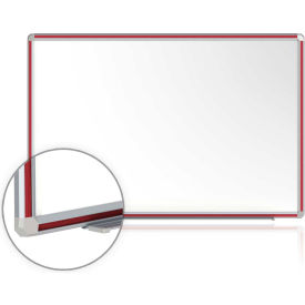 DFMCH410 Ghent; DecoAurora Porcelain Magnetic Whiteboard Silver/Cherry Frame, 4 x 10