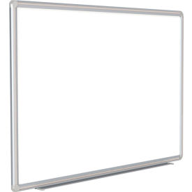 "DFMGY46 Ghent; DecoAurora Porcelain Magnetic Whiteboard Silver/Gray Frame, 72""W x 48""H"