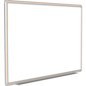 DFMLM410 Ghent; DecoAurora Porcelain Magnetic Whiteboard Silver/Light Maple Frame, 4 x 10