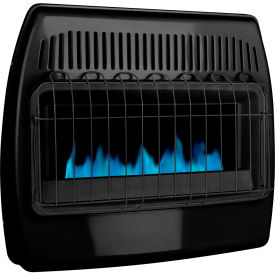 dyna-glo lp/ng dual fuel blue flame vent free thermostatic garage heater gbf30dtdg-4 - 30,000 btu