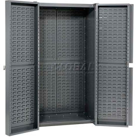 662142B Storage Cabinet With Louver In Doors And Interior 38 x 24 x 72 Assembled