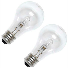 78797 GE 78797 Halogen Bulb A-19 Medium Screw, 1050 Lumens, 100 CRI, 53W, 120V, 2-pack, Clear