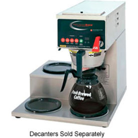 single, digitally controlled decanter brewer, 1 bottom & 2 left side warmers Single, Digitally Controlled Decanter Brewer, 1 Bottom & 2 Left Side Warmers