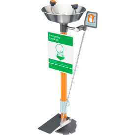 guardian equipment pedestal mounted eyewash, hand and foot control, s/s bowl, g1825hfc Guardian Equipment Pedestal Mounted Eyewash, Hand and Foot Control, S/S Bowl, G1825HFC