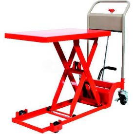 "HLH-200-80L HAMACO Ultra-Low Type Work Cart with Scissor Lift HLH-200-80L - 31.5"" x 19.7"" - 440 Lb. Capacity"