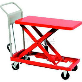 "HLH-400M HAMACO Standard Work Cart with Scissor Lift HLH-400M - 35.4""L x 23.6""W Table - 881 Lb. Capacity"