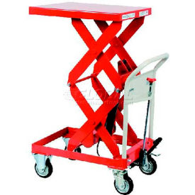 "HLH-400SW HAMACO Standard Work Cart with Scissor Lift HLH-400SW - 23.6""L x 19.7""W Table - 881 Lb. Capacity"