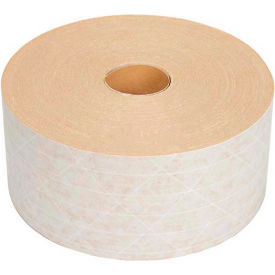 "H50W3X450 Medium Duty Reinforced Water Activated Kraft Tape 3"" x 450 White"