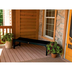 highwood® 4 lehigh backless outdoor bench, eco friendly synthetic wood in black highwood® 4 Lehigh Backless Outdoor Bench, Eco Friendly Synthetic Wood In Black