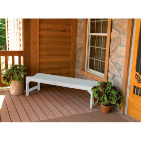 highwood® 4 lehigh backless outdoor bench, eco friendly synthetic wood in white highwood® 4 Lehigh Backless Outdoor Bench, Eco Friendly Synthetic Wood In White