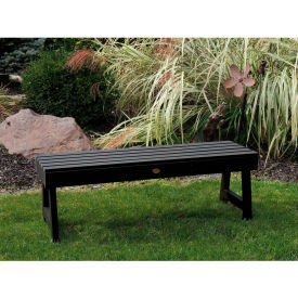 highwood® 5 weatherly backless outdoor bench, eco friendly synthetic wood in black highwood® 5 Weatherly Backless Outdoor Bench, Eco Friendly Synthetic Wood In Black