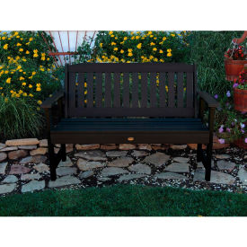 highwood® 4 lehigh outdoor bench, eco friendly synthetic wood in black highwood® 4 Lehigh Outdoor Bench, Eco Friendly Synthetic Wood In Black