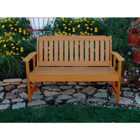highwood® 4 lehigh outdoor bench, eco friendly synthetic wood in toffee highwood® 4 Lehigh Outdoor Bench, Eco Friendly Synthetic Wood In Toffee