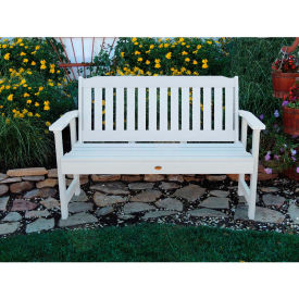 highwood® 4 lehigh outdoor bench, eco friendly synthetic wood in white highwood® 4 Lehigh Outdoor Bench, Eco Friendly Synthetic Wood In White