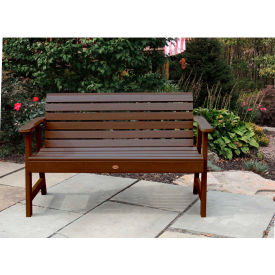 highwood® 5 weatherly outdoor bench, eco friendly synthetic wood in weathered acorn highwood® 5 Weatherly Outdoor Bench, Eco Friendly Synthetic Wood In Weathered Acorn