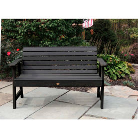 highwood® 5 weatherly outdoor bench, eco friendly synthetic wood in black highwood® 5 Weatherly Outdoor Bench, Eco Friendly Synthetic Wood In Black