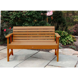 highwood® 4 weatherly outdoor bench, eco friendly synthetic wood in toffee highwood® 4 Weatherly Outdoor Bench, Eco Friendly Synthetic Wood In Toffee