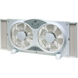 "CZ310R Comfort Zone; CZ310R 9"" Reversible Twin Window Fan with Remote Control"