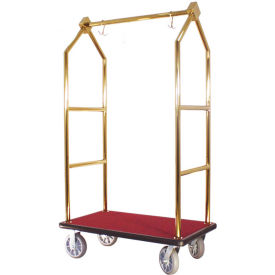 hospitality 1 source contemporary bellman cart bcf105-tg straight uprights, burgundy carp black bump