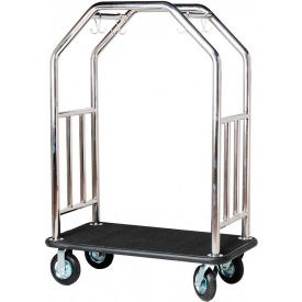 hospitality 1 source estate bellman cart, curved uprights, black carpet Hospitality 1 Source Estate Bellman Cart, Curved Uprights, Black Carpet