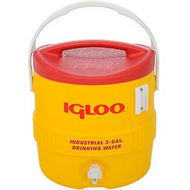 431 Igloo 431 - Beverage Cooler, Insulated, Yellow / Red, 3 Gallons