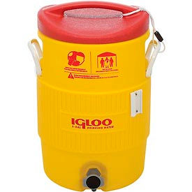 48153 Igloo 48153 - Water & Beverage Cooler, Heat Stress Solution, Yellow, 5 Gallons
