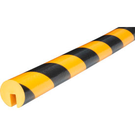 "60-6712 Knuffi Edge Bumper Guard, Type B, 39-3/8""L x 1-9/16""W, Yellow/Black, 60-6712"
