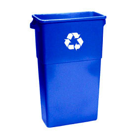 7023-11R Impact; Thin Bin; Recycle Container w/Recycle Logo - Blue, 7023-11R