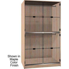 ironwood 2 compart. wardrobe cabinet, grey grill door, folkstone color Ironwood 2 Compart. Wardrobe Cabinet, Grey Grill Door, Folkstone Color