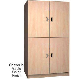 ironwood 2 compartment wardrobe storage cabinet, solid door, natural oak color Ironwood 2 Compartment Wardrobe Storage Cabinet, Solid Door, Natural Oak Color