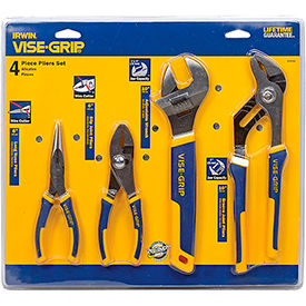 2078705 IRWIN VISE-GRIP; 2078705 4 PC Plier Set (Long Nose, Slip Joint, Tongue & Groove, Adj. Wrench)