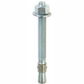 "13017 ITW Red Head 13017 - 1/2"" x 3-3/4"" Wedge Anchor - Steel - Zinc - Made In USA - Pkg of 10"