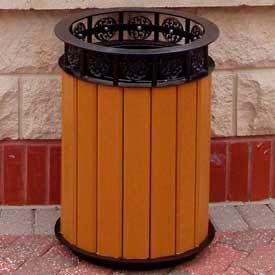 jamestown receptacle, recycled plastic, 20 gal., cedar Jamestown Receptacle, Recycled Plastic, 20 Gal., Cedar