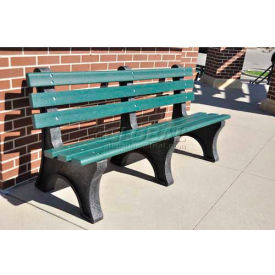 PB 4CEDCPE Central Park Bench, Recycled Plastic, 4 ft, Cedar