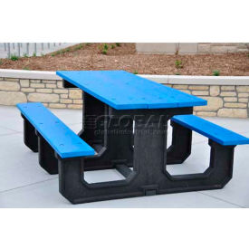 PB 6BLUPARKP Jayhawk Recycled Plastic 6 Ft. Park Place Picnic Table, Blue