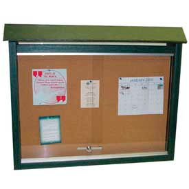 "PB MC1GRE Jayhawk Plastics Small Message Center, Recycled Plastic, One Side, No Posts, Green, 26""W x 20""H"