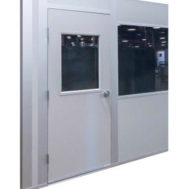 porta-king inplant office, additional 3070 swing door, 3w x 7h, steel, gray Porta-King Inplant Office, Additional 3070 Swing Door, 3W x 7H, Steel, Gray