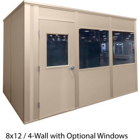 porta-king inplant office, beige vinyl int & ext, 12x16, 4-wall, class c fire & stc27 sound Porta-King Inplant Office, Beige Vinyl Int & Ext, 12x16, 4-Wall, Class C Fire & STC27 Sound