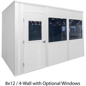 porta-king inplant office, white vinyl int & ext, 8x10, 4-wall, class c fire & stc27 sound Porta-King Inplant Office, White Vinyl Int & Ext, 8x10, 4-Wall, Class C Fire & STC27 Sound