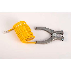 "08497 Justrite; 8497 10 Coil Insulated Antistatic Wire Hand Clamp with 1/4"" Terminal"