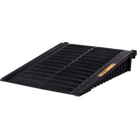 28679 Justrite; 28679 Black Ramp for 2 & 4 Drum EcoPolyBlend; DrumShed;