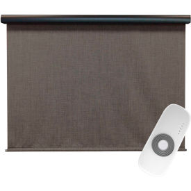 keystone fabrics regal rechargeable motorized outdoor sun shade w/ protective valance, 4 x 8, pepper Keystone Fabrics Regal Rechargeable Motorized Outdoor Sun Shade W/ Protective Valance, 4 X 8, Pepper
