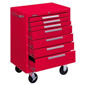 "277XR Kennedy; 277XR 27"" 7-Drawer Roller Cabinet w/ Ball Bearing Slides - Red"