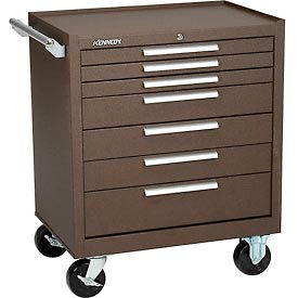 "297XB Kennedy; 297XB 29"" 7-Drawer Roller Cabinet w/ Ball Bearing Slides - Brown"