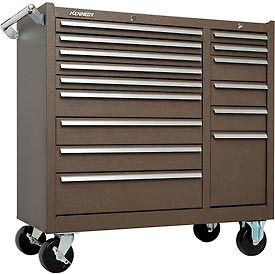 "315XB Kennedy; 315XB 39"" 15-Drawer Roller Cabinet - Brown"