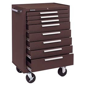 "378XB Kennedy; 378XB 27"" 8-Drawer Roller Cabinet w/ Ball Bearing Slides - Brown"