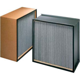 "Koch™ Filter H22A1X1 99.97% BioMAX HEPA Galv. Steel/Double Turned Flange 24""W x 30""H x 5-7/8""D"