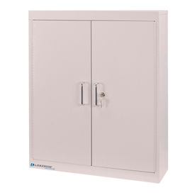"lakeside® medical storage cabinet with 4 adjustable shelves, 24""w x 8""d x 30""h, beige"