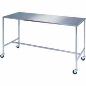 "8393 Lakeside; 8393 Stainless Steel H-Brace Instrument Table - 48""L x 24""W x 34""H"
